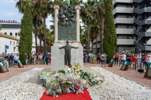 Malaga Malaga Recuerdan el asesinato de Blas Infante con alusiones a su legado y la memoria histórica