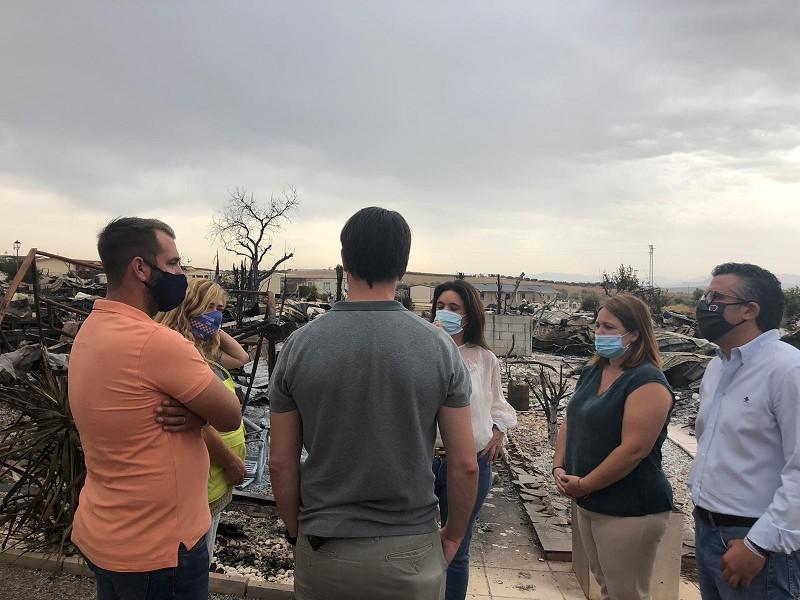 Actualidad Actualidad La Diputación ofrece su apoyo al Ayuntamiento de Mollina y a los afectados por el incendio en un camping del municipio