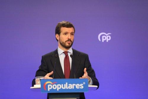 """Actualidad Actualidad Casado acusa a Sánchez de """"mentir"""" sobre los ERTE porque """"es la reforma laboral del PP y la quiere derogar"""""""