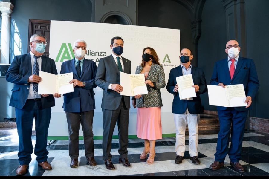 Actualidad Actualidad Moreno y el sector agroalimentario se unen para reclamar una PAC fuerte y solidaria que no lesione los intereses del campo andaluz