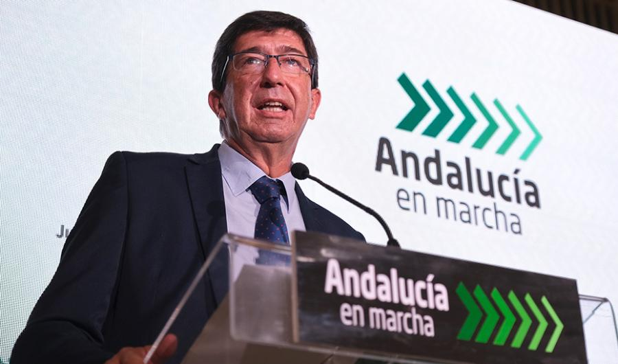 """Actualidad Actualidad Marín ve 'Andalucía en Marcha' como una """"respuesta contundente"""" al efecto económico de la pandemia"""