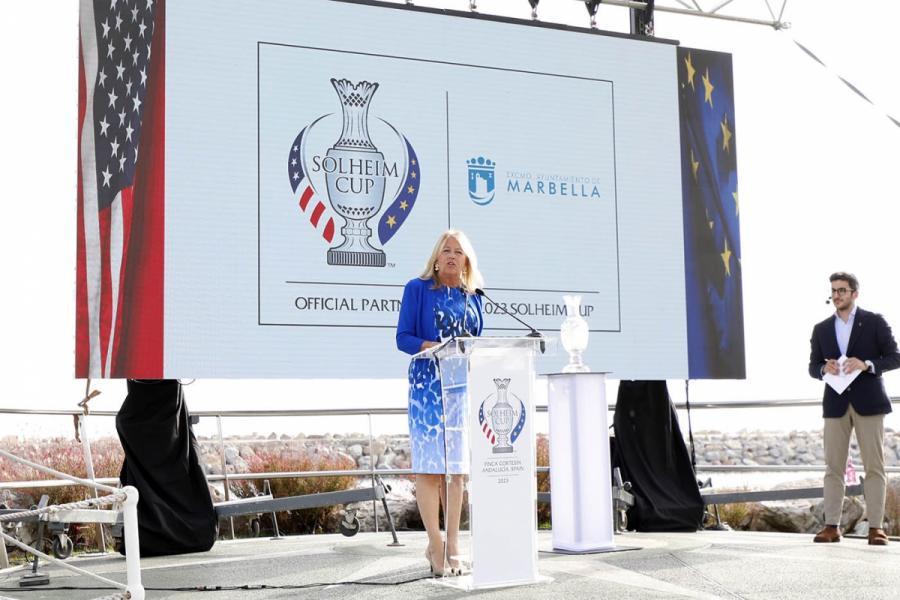 """Marbella Marbella La alcaldesa de Marbella destaca que los 15 campos de golf de la ciudad estarán absolutamente volcados con la Solheim Cup que """"hará de la Costa del Sol un destino más sólido, amplio y unido"""""""