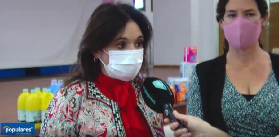 """Torremolinos Torremolinos Marga del Cid: """"Hoy ponemos en marcha el almacén solidario de productos de higiene y aseo personal y de limpieza para ayudar a las personas más vulnerables de Torremolinos que lo necesitan afectados por la crisis de la Covid-19"""""""