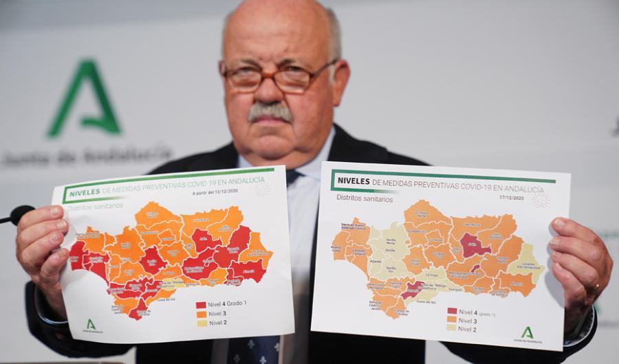 Actualidad Actualidad Andalucía aplica nuevos niveles en sus distritos sanitarios en virtud de la evolución de la pandemia