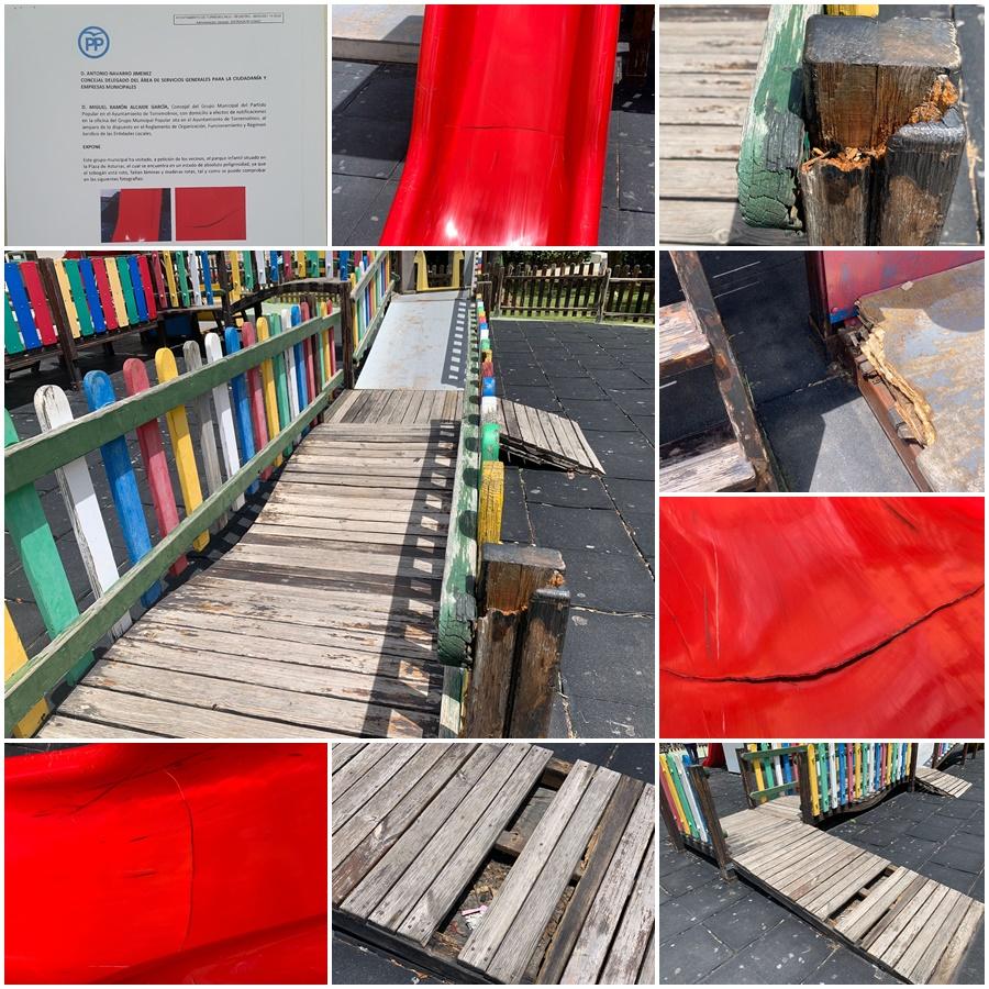 Torremolinos Torremolinos El PP de Torremolinos alerta de la peligrosidad del parque infantil de la Plaza de Asturias