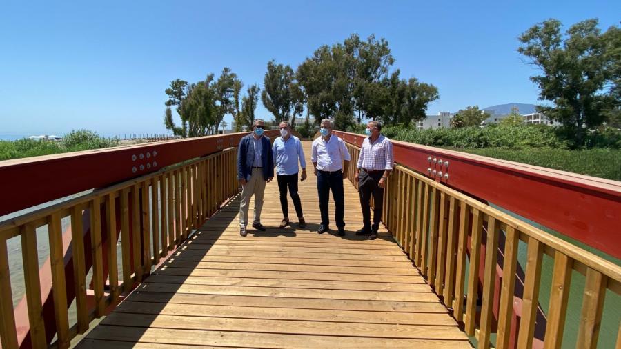 Estepona Estepona Concluyen las obras del tramo de corredor litoral en Guadalmansa, que une 11 kilómetros desde el puerto de Estepona