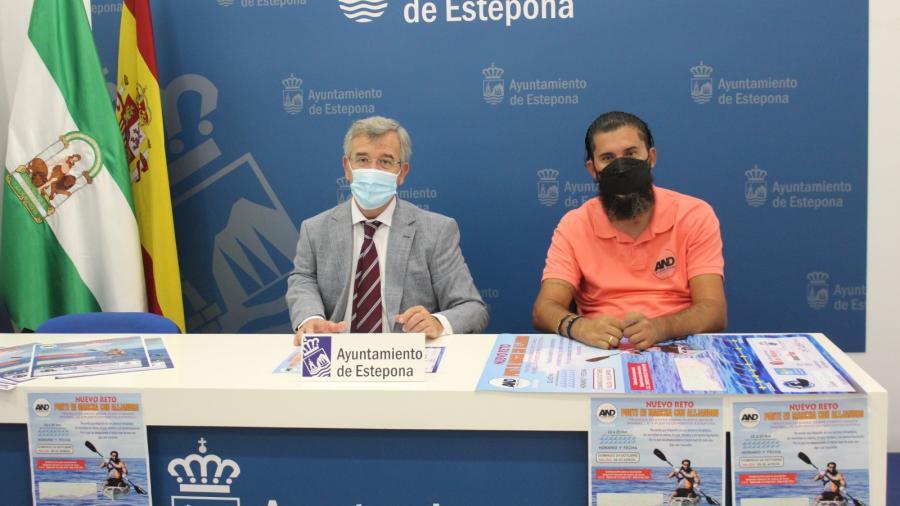 Estepona Estepona El Ayuntamiento de Estepona colabora con el nuevo reto benéfico que llevará a cabo el deportista adaptado Alejandro Navarro