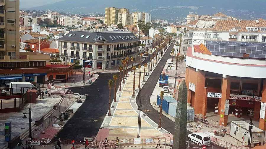 Fuengirola Fuengirola La remodelación integral de la avenida Alcalde Clemente Díaz de Fuengirola, a una semana de su finalización