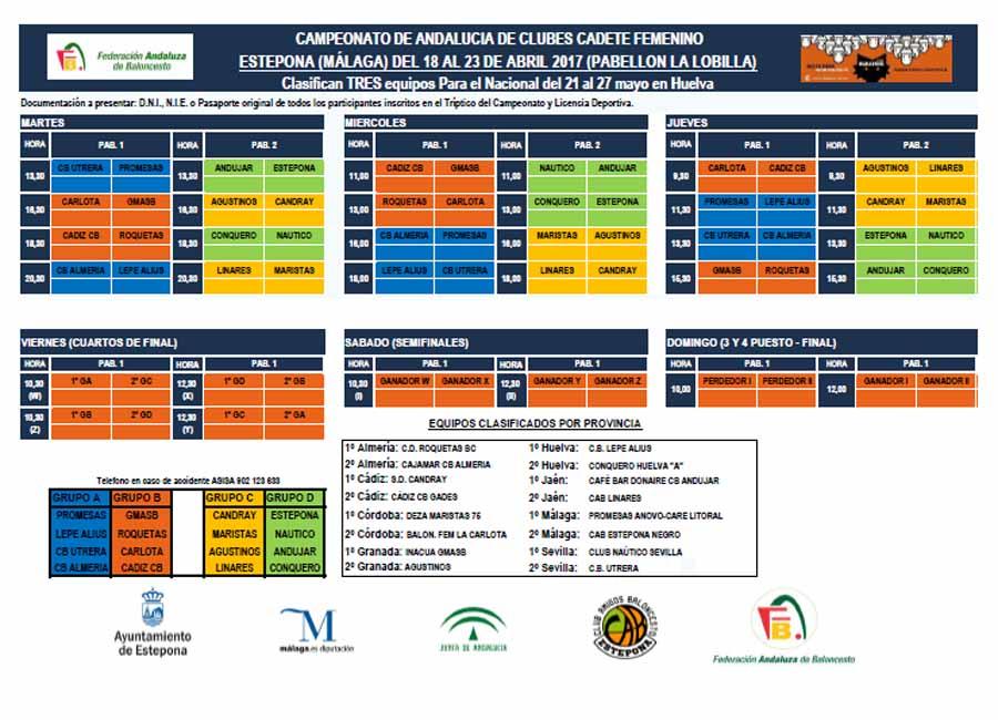 Estepona Estepona Estepona acoge el Campeonato de Andalucía de Baloncesto Cadete Femenino