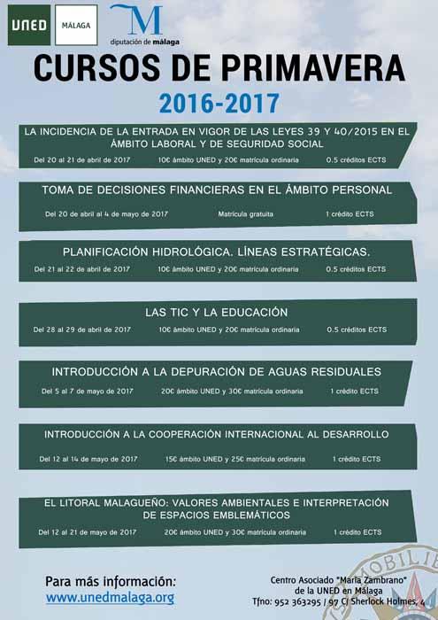 Malaga Malaga Economía, Derecho y Medio Ambiente en el inicio de los Cursos de Primavera de UNED Málaga