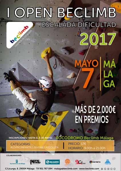 Actualidad Actualidad Beclimb Málaga organiza el I Open Beclimb de escalada con dificultad