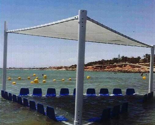 Fuengirola Fuengirola Fuengirola instalará este verano una novedosa estructura en la playa para facilitar el baño a personas mayores