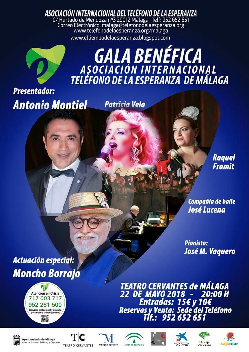 Malaga Malaga El pintor Antonio Montiel presentará la Gala del Teléfono de la Esperanza en el Teatro Cervantes este 22 de mayo