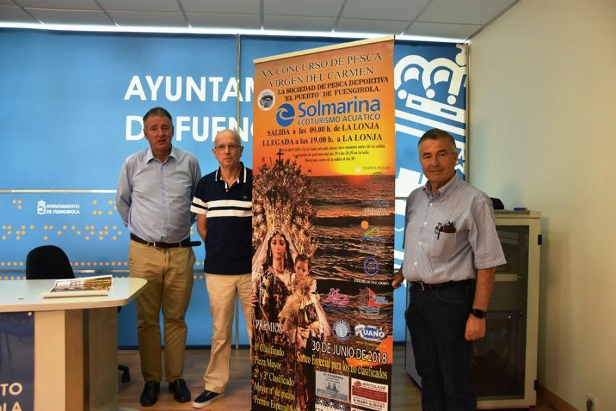 """Fuengirola Fuengirola Solmarina colabora con el XX Concurso de Pesca Trofeo """"Virgen del Carmen"""" del litoral fuengiroleño del sábado 30 de junio"""