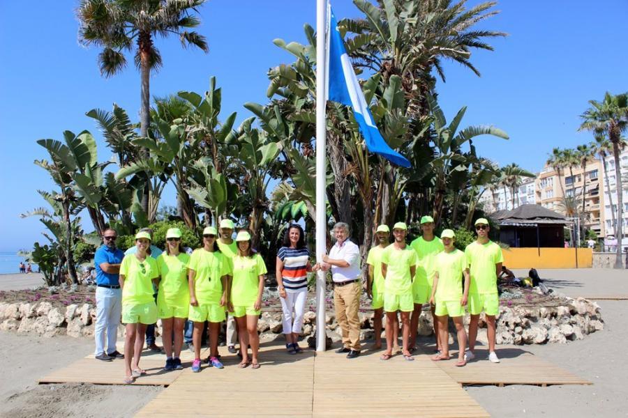 Estepona Estepona Izadas las cuatro banderas azules que ha obtenido Estepona por la calidad y conservación de sus playas
