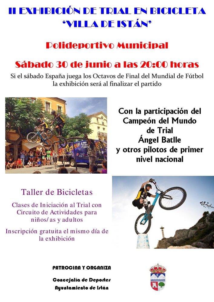 Actualidad Actualidad La II Exhibición de Trial en Bicicleta 'Villa de Istán' tendrá lugar el sábado 30 de junio en el Polideportivo Municipal
