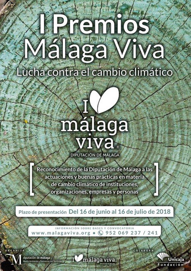 """Actualidad Actualidad Hasta el 16 de julio está abierto el plazo para inscribirse en los I Premios Málaga Viva """"Lucha contra el Cambio Climático"""""""