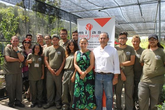 Mijas Mijas El período de formación de Viveros y Centros de Jardinería del programa 'Mijas Valor Joven' entra en su recta final