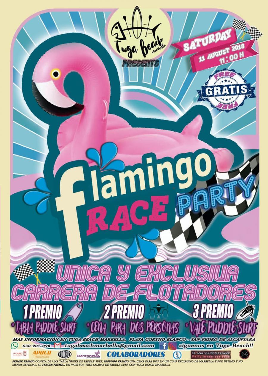 Marbella Marbella La playa de San Pedro Alcántara acoge el sábado la primera carrera de flotadores 'Flamingo Race Party'