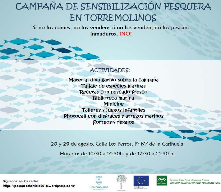 Torremolinos Torremolinos La Carihuela acogerá los días 28 y 29 de agosto una campaña de sensibilización pesquera