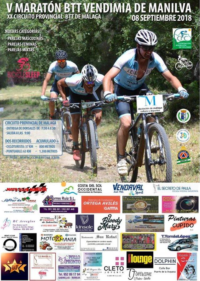 Actualidad Actualidad La V Maratón BTT Vendimia de Manilva se celebrará el próximo sábado 8 de septiembre