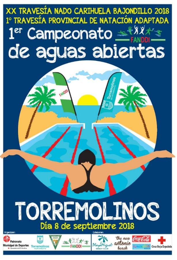 Torremolinos Torremolinos Más de 200 inscritos a la XX Travesía a Nado Carihuela-Bajondillo y el I Campeonato Andaluz de Discapacitados Intelectuales