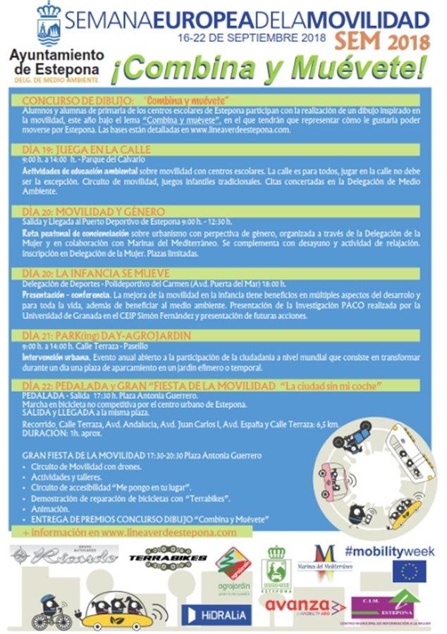 Estepona Estepona Estepona celebra la Semana Europea de la Movilidad con actividades lúdicas de concienciación