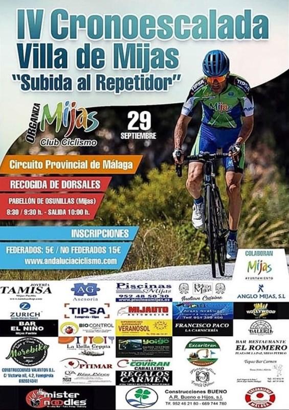 """Mijas Mijas Mañana se celebra la IV Cronoescalada """"Subida al repetidor de Mijas"""" organizado por el Club Ciclista de Mijas, puntuable para el Circuito Provincial"""
