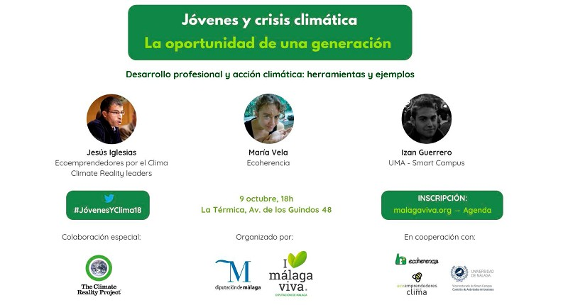 Malaga Malaga 'Málaga Viva' organiza un taller sobre oportunidades de empleo para jóvenes en sectores que contribuyan a frenar el cambio climático en La Térmica
