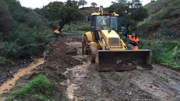 Estepona Estepona El Ayuntamiento de Estepona calcula en más de un millón de euros la reparación de los daños de las lluvias en las zonas rurales