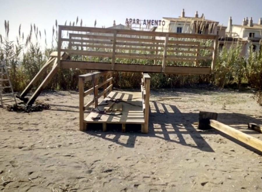 Actualidad Actualidad Queda retirada  la pasarela provisional  de Arroyo Parrilla en el litoral casareño