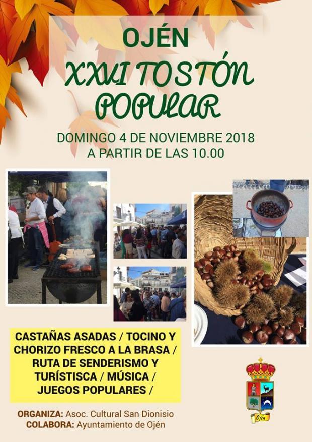 Actualidad Actualidad Ojén celebra la XXVI edición del Tostón Popular el 4 de noviembre donde las castañas y la gastronomía local serán los grandes protagonistas