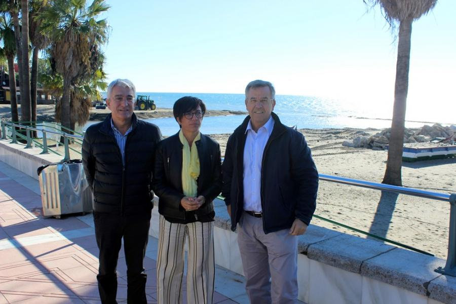 Estepona Estepona El Ayuntamiento de Estepona y la Subdelegación del Gobierno informan sobre las actuaciones realizadas en playas tras el temporal