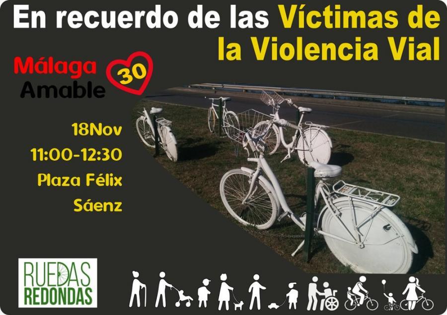 Malaga Malaga Málaga ciudad 30: Manifiesto del Día Mundial en Recuerdo de las Víctimas de la Violencia Vial