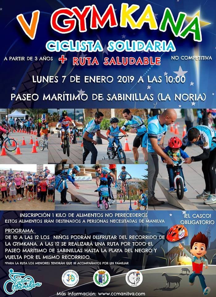 Actualidad Actualidad La V Gymkana Ciclista Solidaria y Ruta Saludable se celebra este lunes a partir de las 10 de la mañana en el Paseo Marítimo de Sabinillas a la altura de la Noria