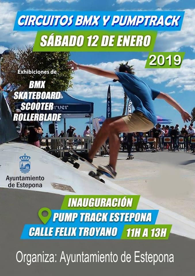 Estepona Estepona El Ayuntamiento de Estepona inaugurará con una exhibición los circuitos de pumptrack y BMX diseñados por el campeón mundial Rubén Alcántara
