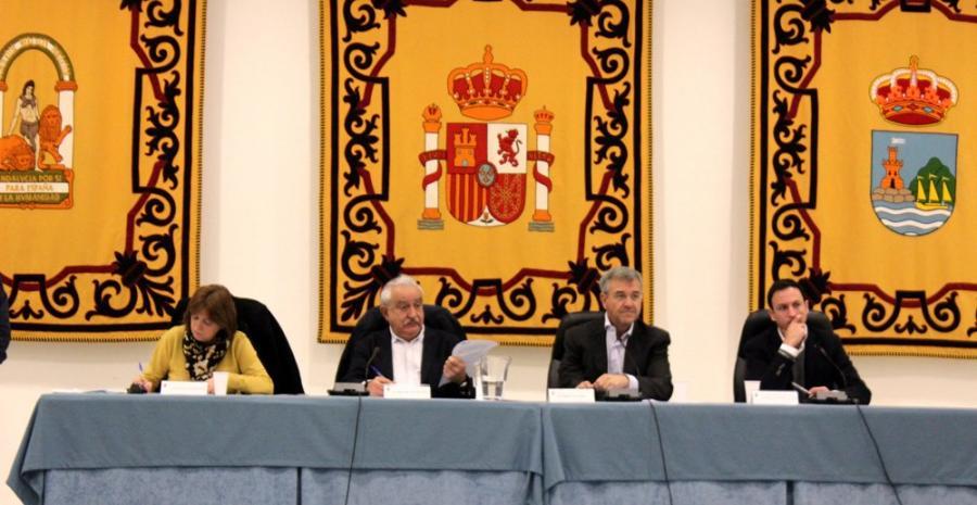 Estepona Estepona El Pleno reconoce la labor de los bomberos del CPB procedentes de Estepona en el rescate en Totalán
