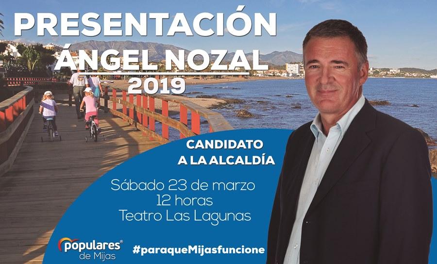 Mijas Mijas Ángel Nozal presentará su proyecto político el próximo 23 de marzo en el Teatro Las Lagunas
