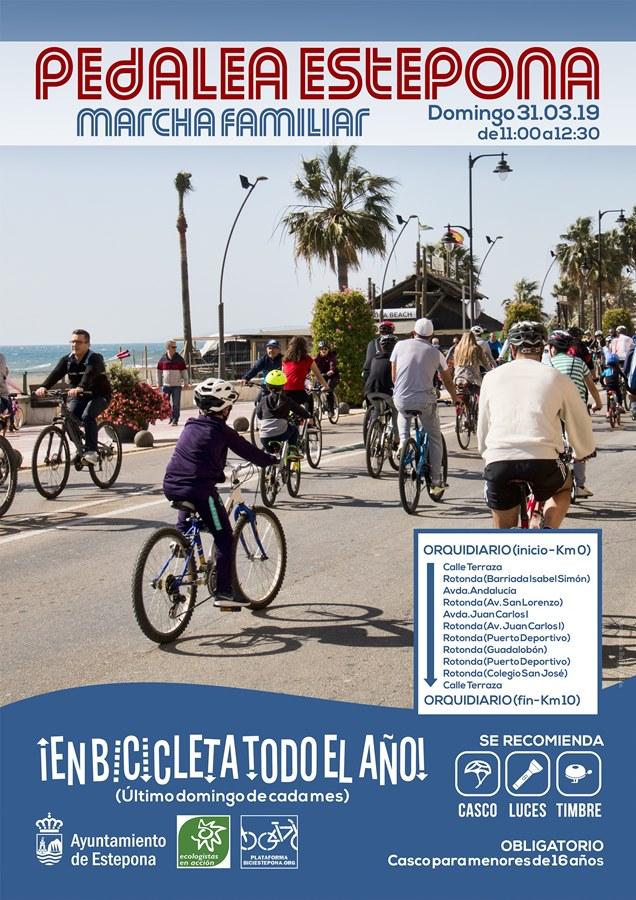 Estepona Estepona Unas 300 personas participan el último domingo de cada mes en las marchas cicloturistas para fomentar el uso de la bicicleta en Estepona
