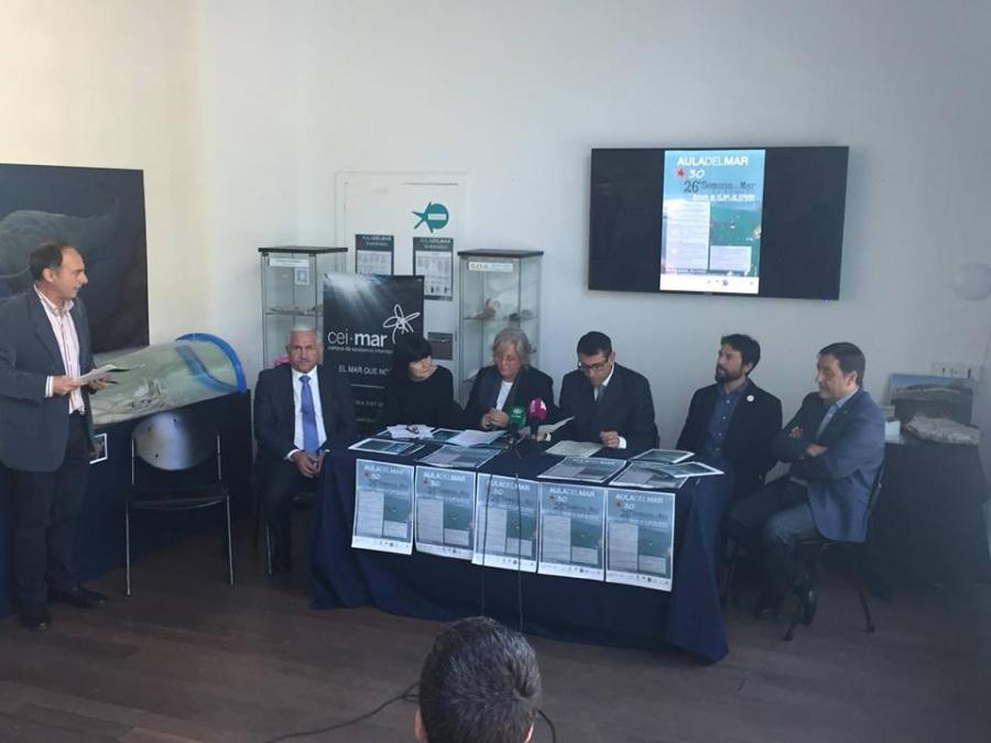 """Malaga Malaga Ya ha comenzado la 26ª Semana del Mar, organiza el Aula del Mar de Málaga bajo el título """"Medusas en el mar de Alborán. Incidencia del cambio climático global"""""""
