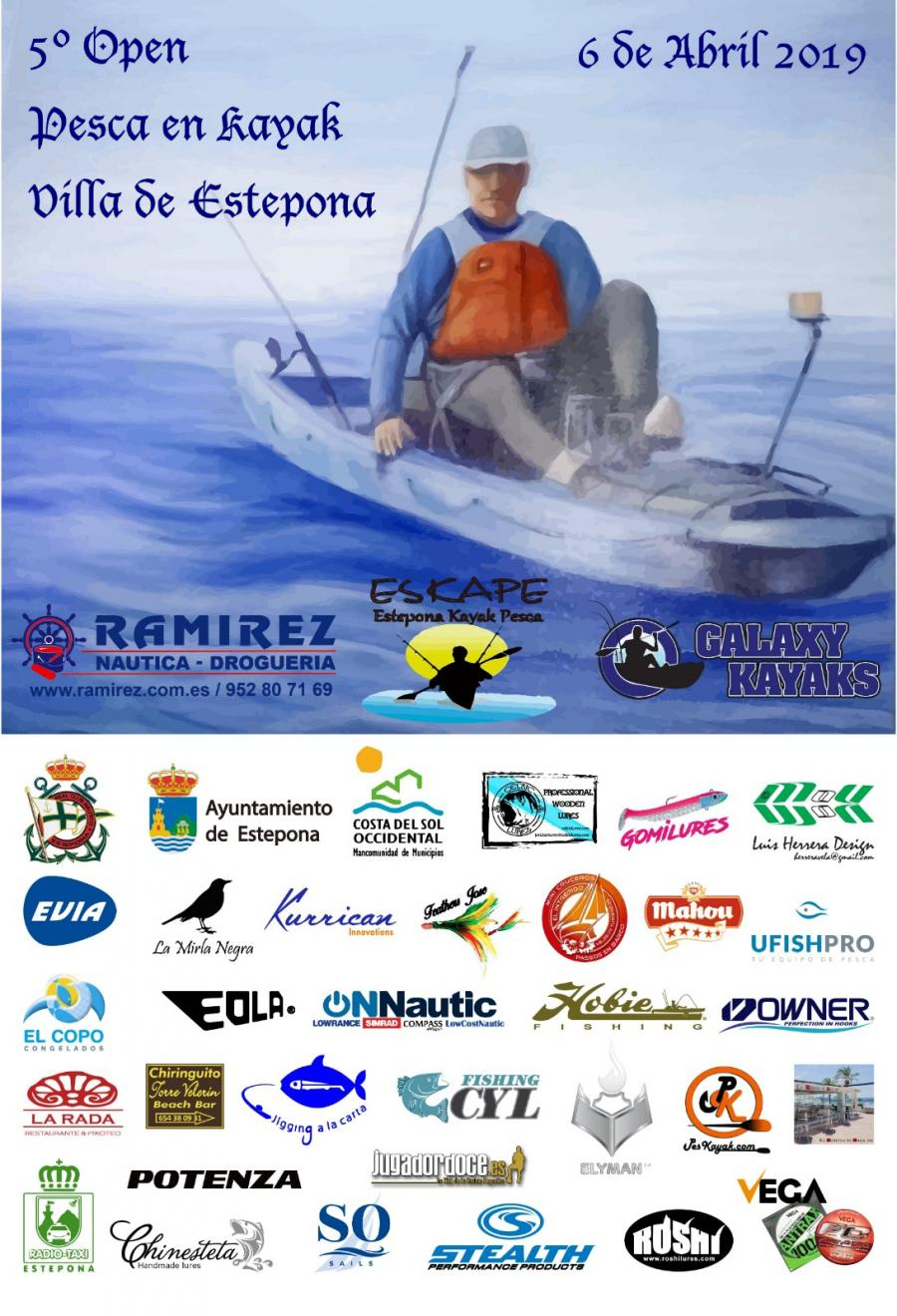 Estepona Estepona El Puerto Deportivo de Estepona acoge el 5º Open de Pesca en Kayak Villa de Estepona con el que colabora la Mancomunidad
